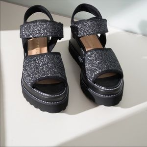 Vicenza Adelaide Ankle Strap Glitter Sandals